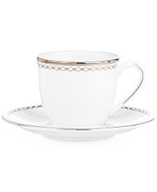 Lenox Pearl Platinum Espresso Cup and Saucer Set
