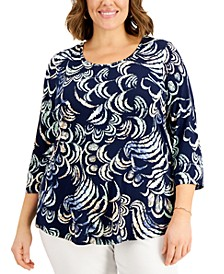 Plus Size Fiona Printed Top, Created for Macy's