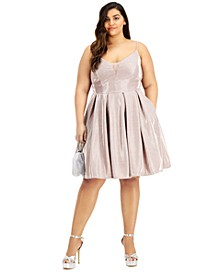Trendy Plus Size Sherri Shine Fit & Flare Dress