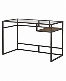 Anthropology 48W Glass Top Writing Desk