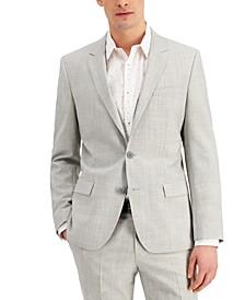 Men's Slim-Fit Superflex Stretch Mélange Wool Suit Jacket