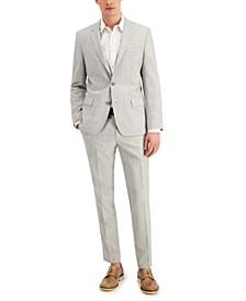 Men's Slim-Fit Superflex Stretch Mélange Wool Suit Separates