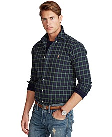 Men's Classic-Fit Plaid Oxford Shirt