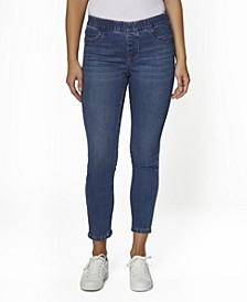 Juniors' Reversible Pull On Skinny Jeans