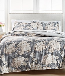 Painterly Floral Full/Queen 3Pc Quilt Set