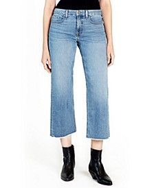 JEN7 Cropped Wide-Leg Jeans