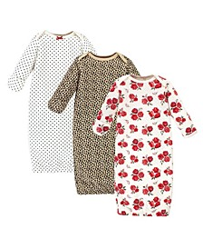 Boys and Girls Quilted Cotton Gowns, Pack of 3