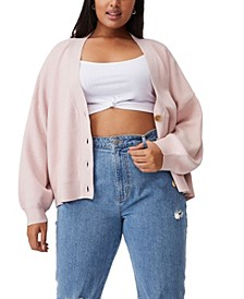 Women's Trendy Plus Size Chloe Blouson Sleeve Cardigan