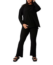 Women's Trendy Plus Size Renee Rib Pant