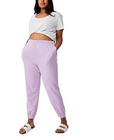 Women's Trendy Plus Size High Rise Sweatpants