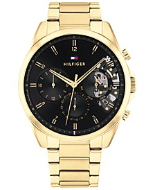 Men's Chronograph Gold-Tone Bracelet Watch 44mm, Created for Macy's
