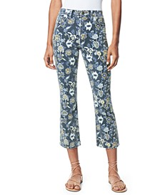 Callie Cropped Floral-Print Jeans