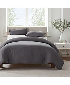 Simply Clean Microbe Resistant Full and Queen Duvet Set, 3 Piece
