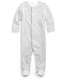 Ralph Lauren Baby Boys Striped Velour Coverall