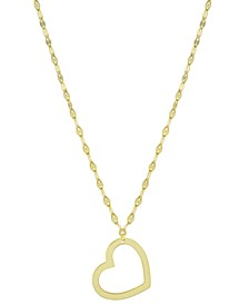 "Open Heart Pendant Necklace, 16"" + 2"" extender, Created for Macy's"