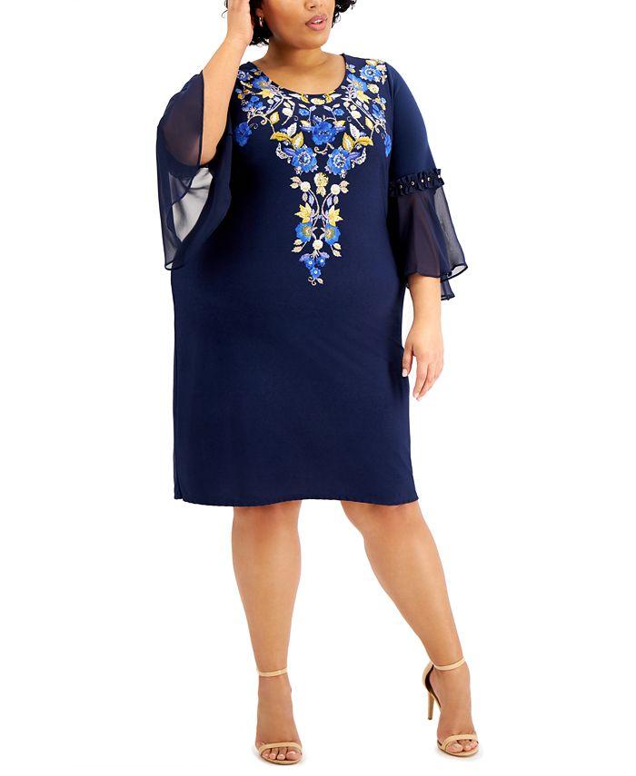 JM Collection - Plus Size Parisian Holiday Dress