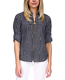 Striped Utility Shirt