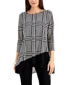 Printed Crossover-Hem Top, Created for Macy's