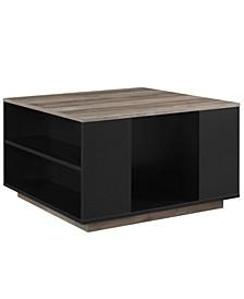 "Delphyne 30"" Square Storage Coffee Table"