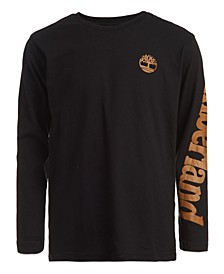 Big Boys Angled Long Sleeve Logo T-shirt