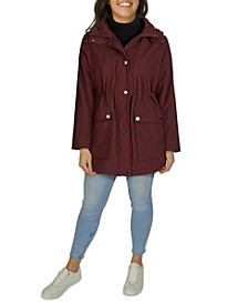 Women's Plus Size Hooded Anorak Rain Coat