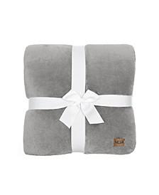 """Whitecap Plush Flannel Oversized Throw Blanket, 70"""" x 50"""""""