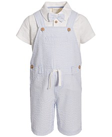 Toddler Boys Seersucker Shortall Set, Created for Macy's