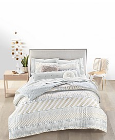 Watercolor Stripe Bedding Collection, Created for Macy's