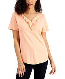 Ruffled Henley Top, Created for Macy's