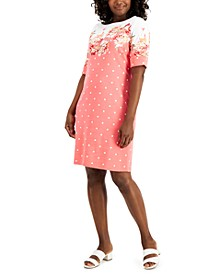 Country Bloom Dress Mixed-Print Dress, Created for Macy's