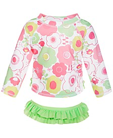 Toddler Girls 2-Pc. Floral Rash Guard Set, Created for Macy's