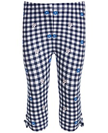 Baby Girls Flower Gingham Capri Leggings, Created for Macy's