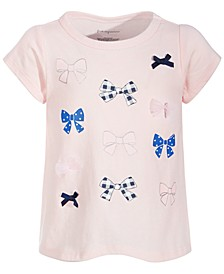 Baby Girls Cotton Multi Bow T-Shirt, Created for Macy's