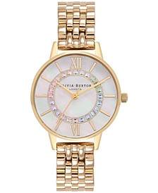Women's Wonderland Gold-Tone Stainless Steel Bracelet Watch 30mm