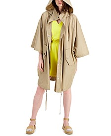 INC EARTH Hooded Cape Jacket, Created for Macy's