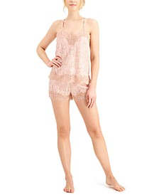 Lace-Trim Cami & Shorts Sleep Set, Created for Macy's