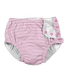 Baby Girl Snap Reusable Absorbent Swimsuit Diaper
