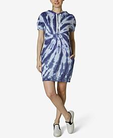 Juniors' Tie Dye Hoodie Dress