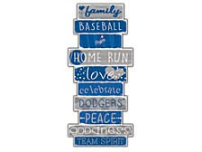 Fan Creations Los Angeles Dodgers Celebration Stack Wall Art