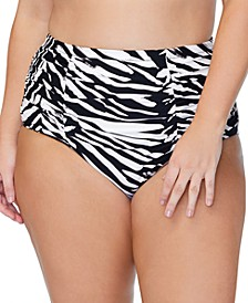Trendy Plus Size Costa Meru Printed Bikini Bottoms