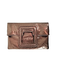Women's Mateo Fold over Clutch with Crossbody Strap