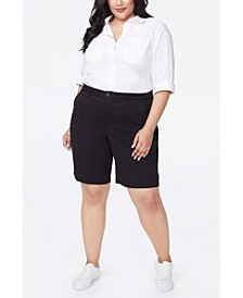 Women's Plus Size Bermuda Shorts in Stretch Twill