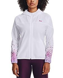 Women's Printed-Sleeve Hooded Jacket