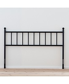 Traditional King Size Metal Headboard with Vertical Panels