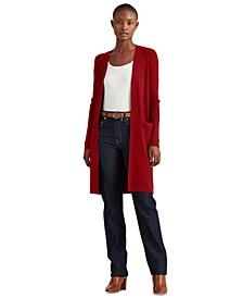 Cotton-Blend Long Sweater