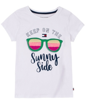Tommy Hilfiger BIG GIRLS SUNNY SEQUIN TEE
