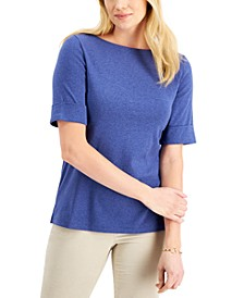 Cotton Boat-Neck Top, Created for Macy's