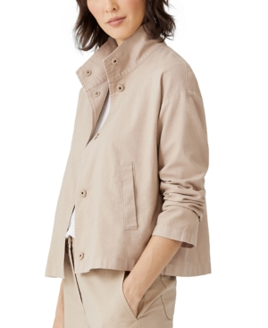 Eileen Fisher STAND-COLLAR JACKET