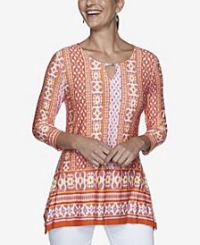 Women's Plus Size Knit Bohemian Top