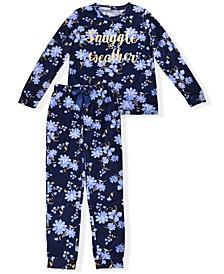 Big Girls Floral Print Pajama Set, 2 Piece